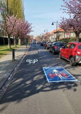 Fietsers hebben voorrang in een fietsstraat!